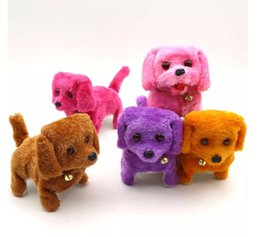 Wholesale Barking Toy Dog - Electronic plush toys dog Pets Hot Selling New Fashion Walking Barking Toy High Quality Funny Electric Short Floss Dog Toys