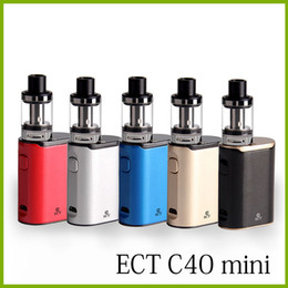 Wholesale Electronic Cigarette Boxed Starter Kits - original ECT C40 mini 40W e cigarette Box Mod Starter Kits 2.0ml vs ect 30p vaporizer 1800mah electronic cigarette vape pens