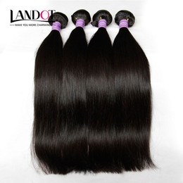 Wholesale Indian Remy Straight Wefts - 4 Bundles Brazilian Virgin Hair Straight 8A Grade Unprocessed Peruvian Malaysian Indian Cambodian Mongolian Human Hair Weaves Double Wefts