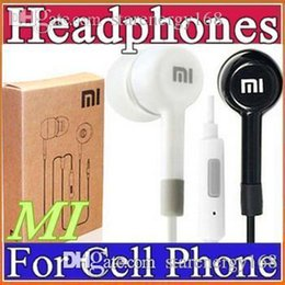 Wholesale Earphones For I Phone - 2016 3.5mm Smart Phones Earphone xiaomi In-Ear Earphone headphone With Mic and Remote headphone white black with retail box For iphone7 I-EJ