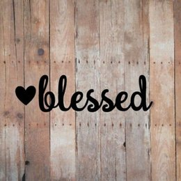 love stickers Coupons - BLESSED - VINYL Car Window DECAL Sticker Faith Hope Scripture Christian Love