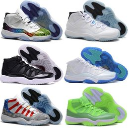 Wholesale Khaki Colour Sports Shoes - 10 Colours Free Shipping Hot Sale High Quality Retro 11 XI Space Jams Wine Red Women Men Basketball Sport Footwear Sneakers Shoes