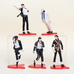 """Wholesale Michael Jackson Figures - NEW 4"""" (11cm) MICHAEL JACKSON FIGURES dolls SET OF 5 POSE figures"""