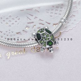 Wholesale Turtle Diy - The little turtle DIY alloy hot diamond bead bracelet accessories wonderful animal