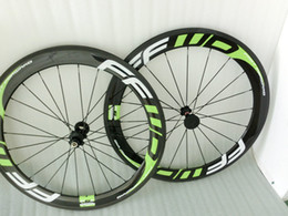 Wholesale China Roads - DIY logo FFWD wheels 60mm Green wheelset straight pull novatec A271 hubs full carbon road bicycle bike wheels 3k T1000 made in china