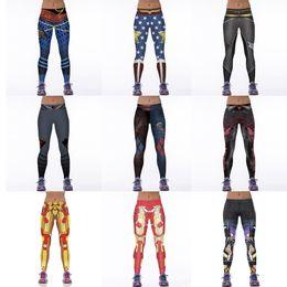 Wholesale Sexy Free Spandex Pants - NEW 300 Style Sexy Girl Women Comics Batman Superhero Metallic mesh 3D Prints High Waist Running Fitness Sport Leggings Pants
