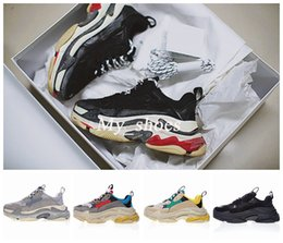Wholesale Men S Boots Brands - New Brand Triple S Shoe Speed Trainer Running Shoes Quality Sneakers Speed Sneakers Trainer Racer Runners Shoes mans women Sport Boots