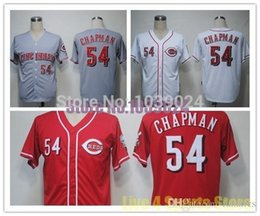 Wholesale Online Cheapest Shorts - 2016 NWT Cincinnati Reds 54 Aroldis Chapman Jersey Red White Grey Embroidery Cheap Baseball Jerseys Best Quality Cheapest Online