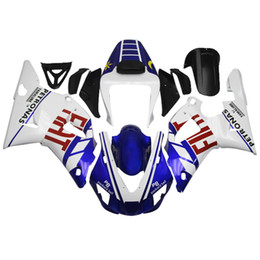 Wholesale Injection Fairings For Yamaha YZF1000 R1 Year ABS Motorcycle Fairing Kit Bodywork FIAT Petronas Packard BellPB White Blue