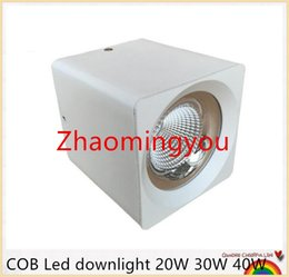 Wholesale Wall Mount Led Spot Light - YON LED COB Downlight 20W 30W 40W 85-265V Surface Mounted Wall Spot light led for home Kitchen Bathroom Decor