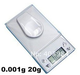 Wholesale Lcd Scale Display - high precision Digital LCD display 0.001g * 20g Weighing Gem balance weigh Jewelry Diamond pocket Milligram +tweezer+ farmar Electronic Gram