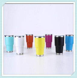 Wholesale Led Drinking Glasses Wholesale - 20oz 30oz Stainless Steel Wine Glass Cup 8 Colors Double Wall Insulated Metal Cups With Lid Colster Tumbler Drinking Wine Mugs