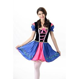 Wholesale French Halloween Costumes - New Novelty Women Theme Costumes Dress Bowknot French Wench Maid Costumes Princess Women Clothing Cosplay Halloween Fancy Dress A413014