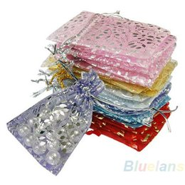 Wholesale Organza 3x4 - 25pcs set Organza Jewelry Wedding Gift Pouch Bags 7x9cm 3X4 Inch Mix Color for Party Holiday New Year Use 08KY