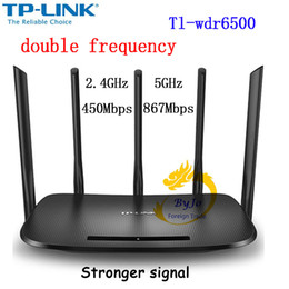 Wholesale Wifi 5ghz - Tp-link Wireless Wifi Router Ac Tl-wdr6500 1300mbps 2.4ghz+5ghz 802.11ac b n g a 3 3u 3ab for Family soho