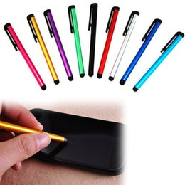 Wholesale Cheap Lg Screen - Cheap Colorful Capacitive Touch Screen Stylus Pen Universal For iPhone 5 4s iPad iPod Samsung Touch Smart Phone Tablet PC