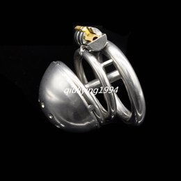 Wholesale Bdsm Bird Cage - BDSM Cock Cage Sex Toys Chastity Device Stainless Steel Penis Lock Chastity Belt Bondage For Male Bird Lock Adult Sex Machine