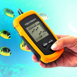 Wholesale Alarm Finder - Portable Fish Finder Sonar Wired LCD Fish Sonar Sounder Depth Finder Alarm New 100M Electronic Fishing Tackle Bait Tool 2508020