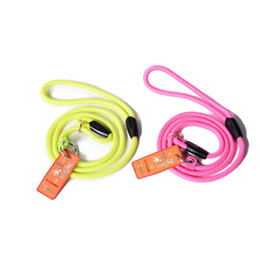 Wholesale Nylon P Leash - New Qualified Fashion Round Nylon Rope Leash Pet Dog P Chain Lead Must-have Pet Supplies WA1380