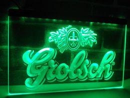 Wholesale Led Disco Sign - LA007g- Grolsch Beer Bar Pub Club NEW LED Neon Light Sign