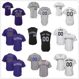 Wholesale Kids Vest Shorts - Customized Colorado Rockies Mens Womens Kids Gray Road White Black Vest Sleeveless Custom Stitched Your Any Own Name Number Jerseys S,4XL