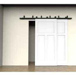 Wholesale Bypass Doors - 5-6-6.6-7.5-8-10-12-13-15-16FT Bypass Double Sliding Barn Door Hardware Track Kit Double Door stes Door Dardware
