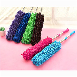 Wholesale Picture Frame Book - Scalable chenille duster Household Cleaning Sanitary Feather Duster Remover Sweep Dust Brush Chenille Retractable Dusters car to brush dust