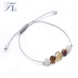 Wholesale Bead Strand Moonstone - TL Handmade Healing Bracelet Natural Mookaite Stones Moonstone Yellow Crystal Bead Yoga Bracelet Clear Positive Energy Bracelet