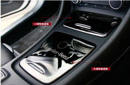 Wholesale Center Storage Console - Interior Center Console Storage Box Panel Decoration Cover Trim For Mercedes Benz GLA X156 CLA C117 200 220 260 A180 2014-17