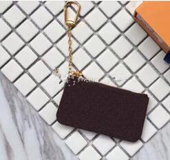 Wholesale Free Serial - Free Shipping! Key Pouch zip Wallet Coin Leather Wallets Male Women designer purse Serial Number + Box 62650