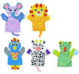 Wholesale Lion Gloves - Cartoon animal lion frog elephant cow chick bath glove sponge for body Washcloths children baby Cleaning bath towel