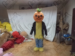 Wholesale Halloween Pumpkin Mascot - Wholesale-Halloween pumpkin head cartoon mascot costume