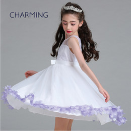 Wholesale Thanksgiving Fabric Tutu - tutu dresses3 color (green + lanvender + pink) high quality fabric Girl flower dress Support agent shipping mini wedding dress