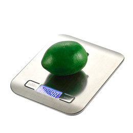 Wholesale Kitchen Scale Stainless Steel Slim - LCD Digital Kitchen Scale 5Kg x 1g Weight Food Diet Halloween Cooking Tool With Super Slim Stainless Steel Platform MCT-20 H210292