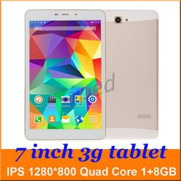 """Wholesale Cheapest 3g Phablet - P300 7"""" MTK8382 Quad Core 3G WCDMA unlocked Phablet Bluetooth Phone Call Tablet PC Wifi 1GB 8GB IPS 1280*800 Dual SIM CAM + case Cheapest 30"""