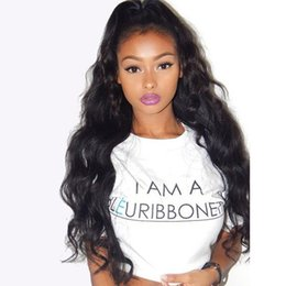 Wholesale Beautiful Chinese Women - Beautiful Unprocessed 100% Long Malaysian Human Hair Glueless Loose Wave Full Lace Wigs Free Part For Black Women