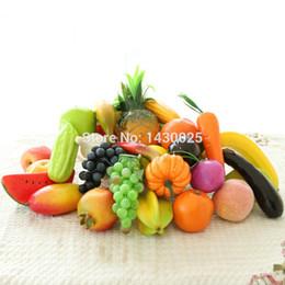 12 Pezzi Per Lotto Artificiale Finto Frutta Verdura Ornamenti Decorazioni di Nozze di Natale Casa Decori DYW-3042 cheap vegetable decor da decorazione di ortaggi fornitori