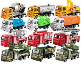 Wholesale Toy Models Cars Trucks - mini alloy construction vehicle Engineering Car Dump-car Dump Truck Model Classic Toy Mini gift for boy free shipping
