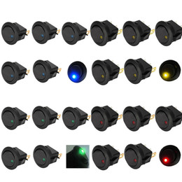 Interruptor de palanca basculante online-5Pcs 12V LED Dot Light Auto Car Boat Rocker redondo ON-OFF Interruptor de palanca B00225 BARDO