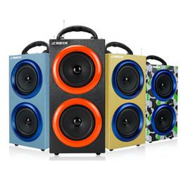 Wholesale luxury mini bluetooth speaker - Portable Wireless Bluetooth Speakers Outdoor Sports Handsfree with Mic Support TF Card FM Radio Luxury Loud Speakers MIS130