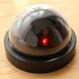 Wholesale Dome Fake - Wholesale-2016 Home Security Fake Simulated video Surveillance indoor outdoor Dummy Led Dome Camera Signal Generator Electrical