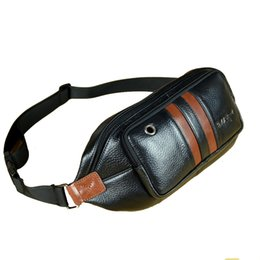 Wholesale Leather Fanny Packs For Men - Wholesale-genuine leather bags waist packs for men messenger bags crossbody shoulder bag chest bags male cowhide fanny packs