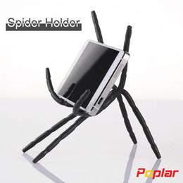 Wholesale Car Kit Holder - Wholesale-2016 Newest Spider Mobile Phone Holder For Iphone 6 Plus 5S For Samsung S7 Edge Car Holder Kit Stand Support Cell Phone Holder