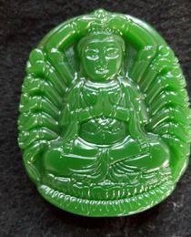 Wholesale Hotan Jade - China's xinjiang hotan jade of guanyin pendant with free shipping D8