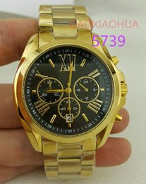 Wholesale Hours Sex - women's watches male luxury 5739 gold watch brand sexy black dial golden wristwatches lady branded sex chrono hours stop clocks for woman