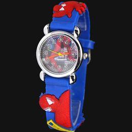 Canada 3d bande dessinée belle enfants filles garçons enfants étudiants spider-man montre-bracelet à quartz très populaire Offre
