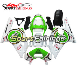 Wholesale Kawasaki 636 Frame - Complete Fairings For Kawasaki ZX6R 636 2003 2004 03 04 ABS Injection White Green Plastic Motorcycle Fairing Kit Cowlings Body Frames