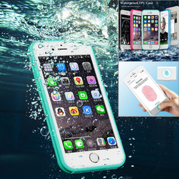 Wholesale Neoprene Shock - For iPhone 7 Waterproof Case Snowproof Dirtpoof Shock Resistant Protective Case Cover with Fingerprint Recognition DHL Free Shipping