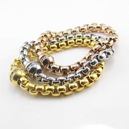 Круговые магниты онлайн-Высокое качество Оптовая Марка имя ювелирные изделия новая мода браслеты 18K розовое золото покрытием круглый магнит Кристалл женщины браслет