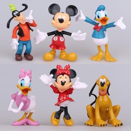 Wholesale Models Kid Girls - 6pcs lot 10cm Mickey Mouse Clubhouse PVC Action Figures Minnie Mouse Anime Figure Figurines Models Kids Toys for Boys Girls Gift